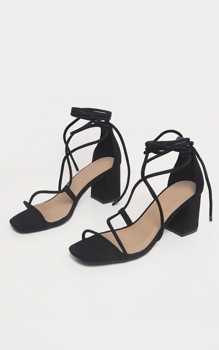 Black Block Heel Sandal 3