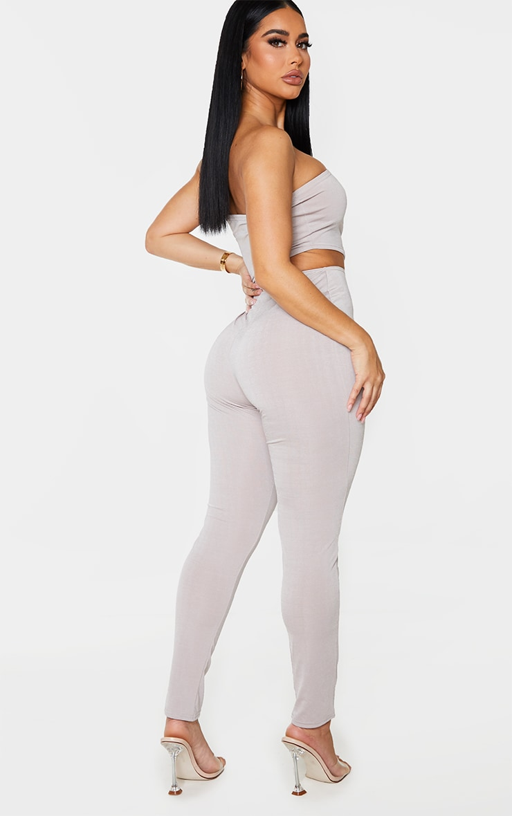 Shape Grey Slinky Cut Out Bandeau Jumpsuit 2