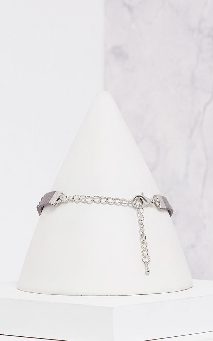 Sanie Dark Grey Diamante Choker 3