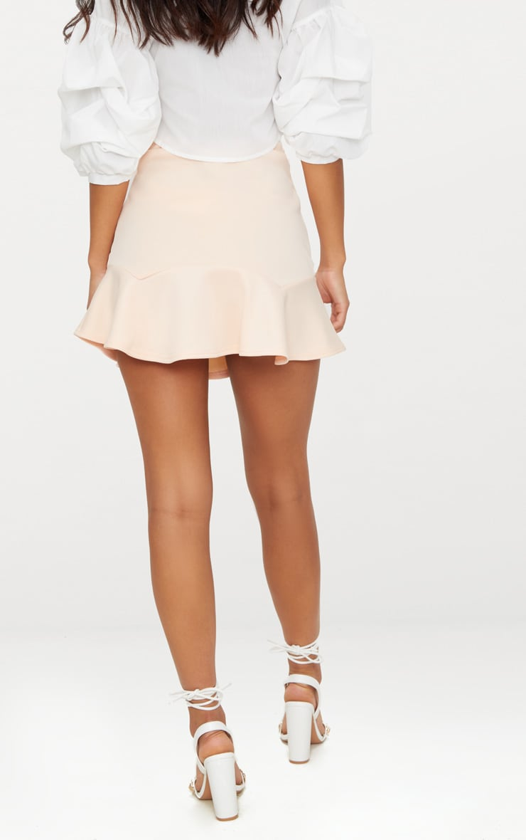 Nude Flippy Hem Mini Skirt 4