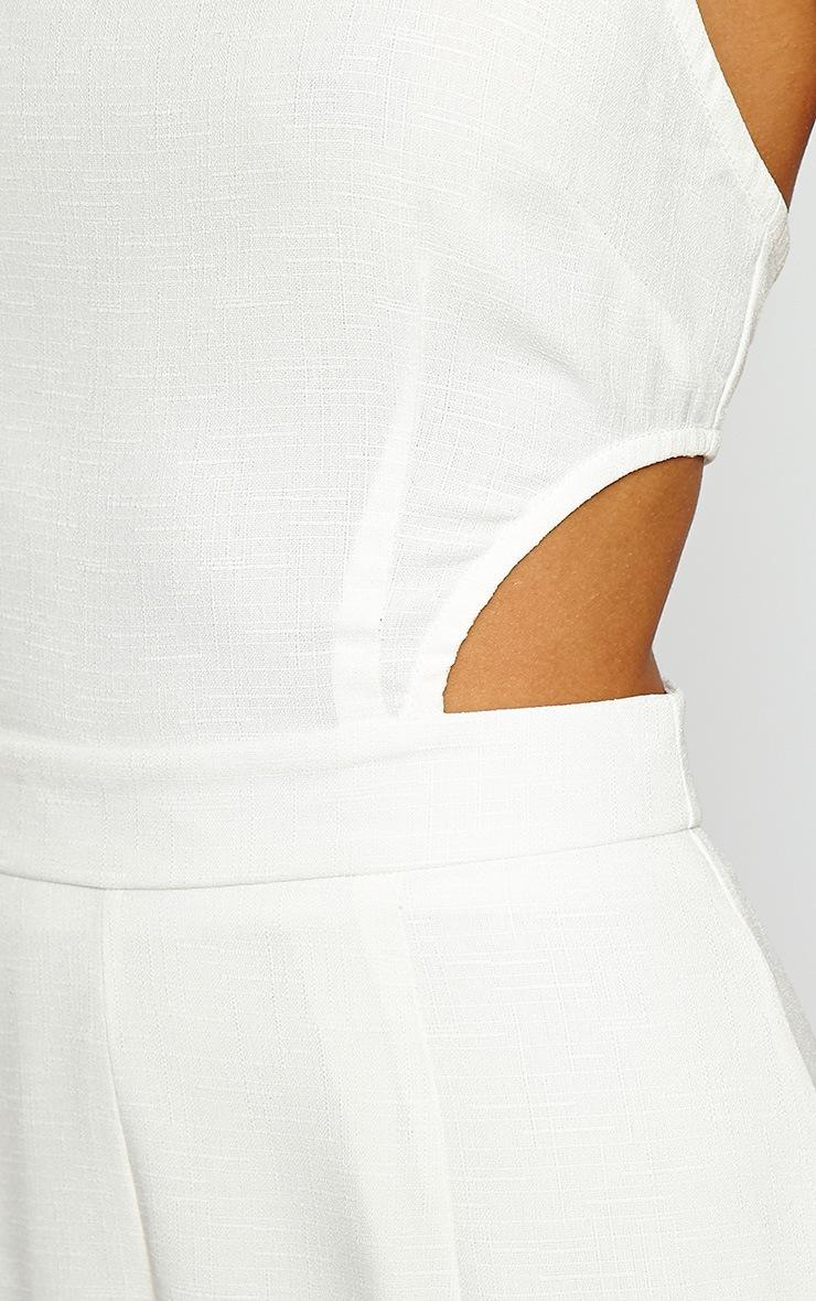 Giuliana Ivory Flare Jumpsuit 5