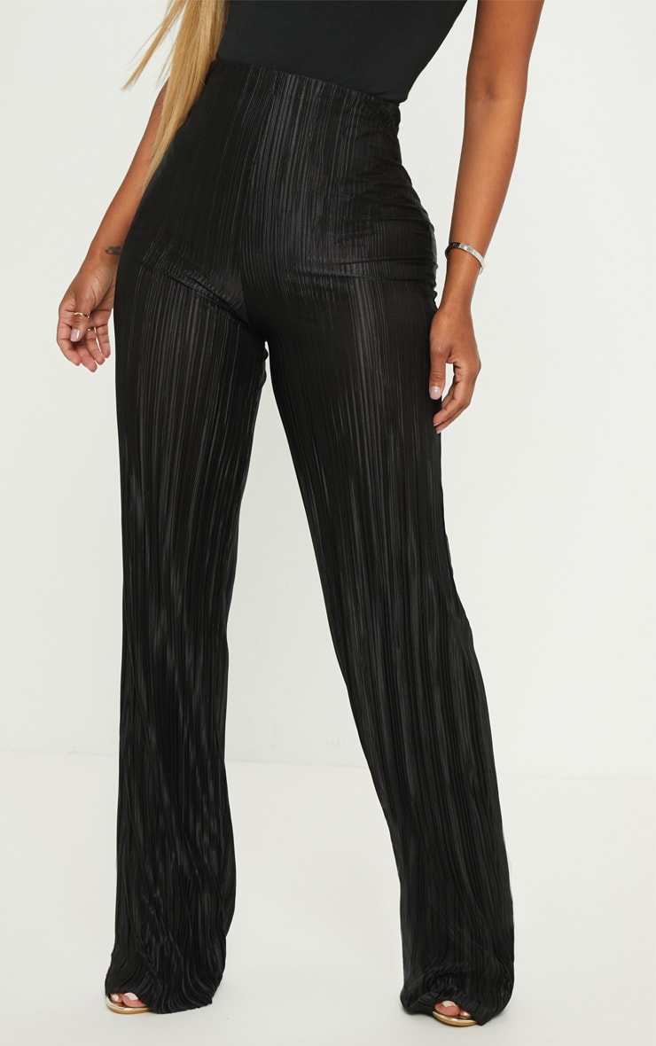 Shape Black Plisse Wide Leg Trouser 2