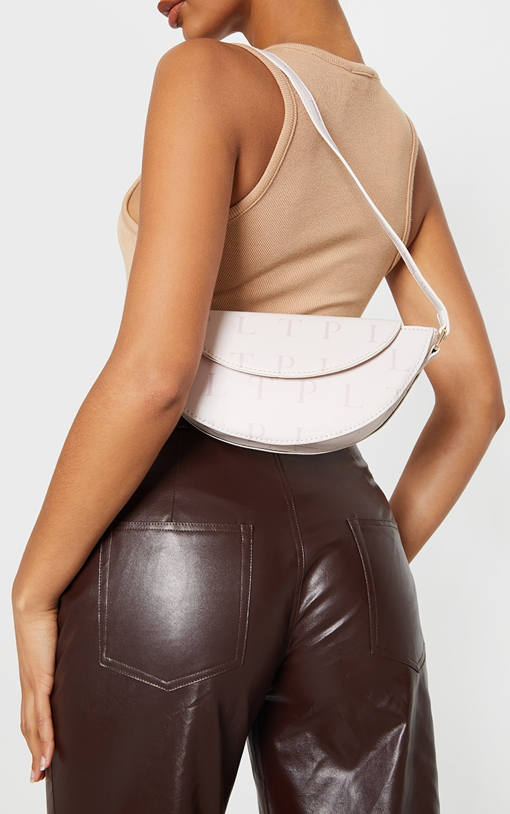 Chocolate Faux Leather Pleat Detail Wide Leg Trousers 4