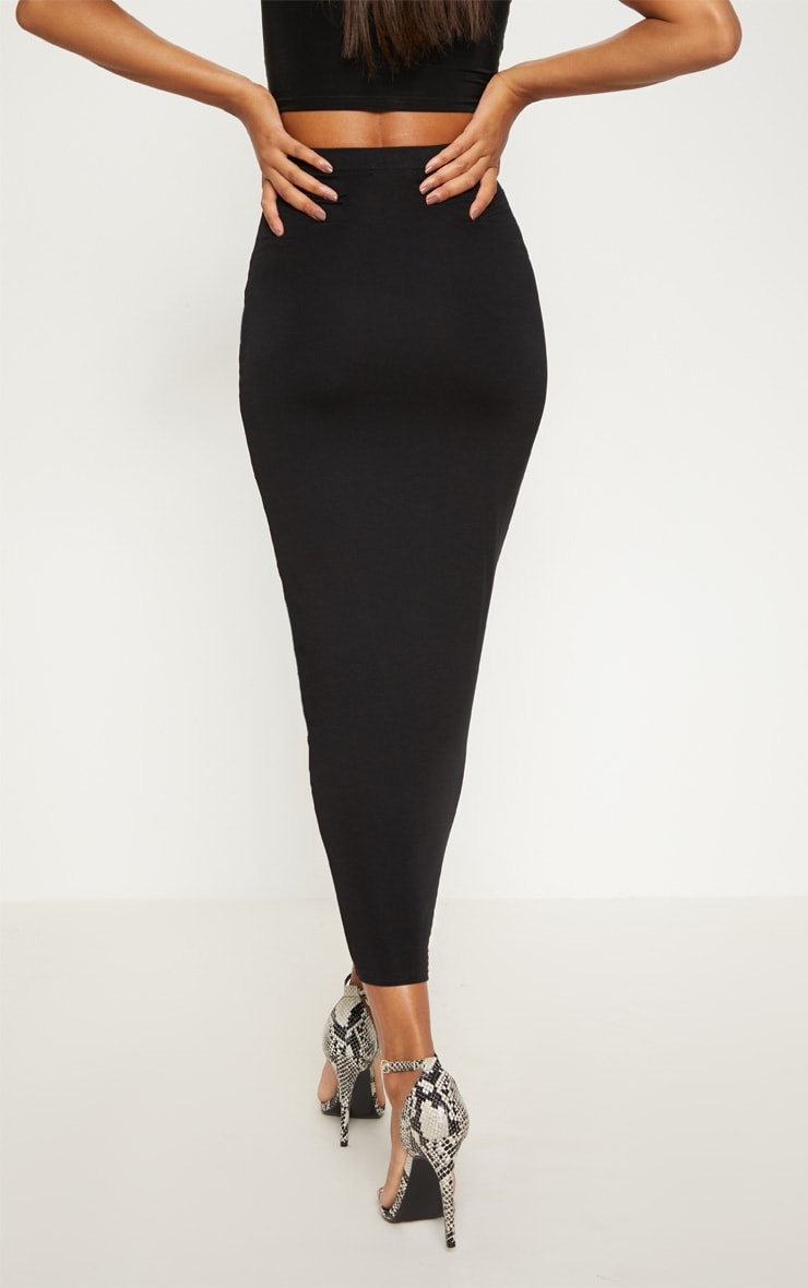 Black Basic Maxi Skirt 4