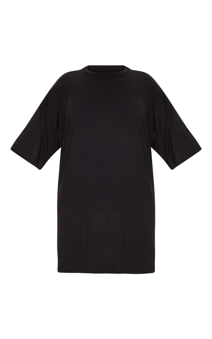 Plus Black T-shirt Dress 4