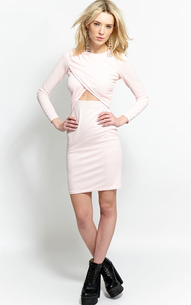 Diana Pink Cut-Out Bodycon Midi Dress-16 3