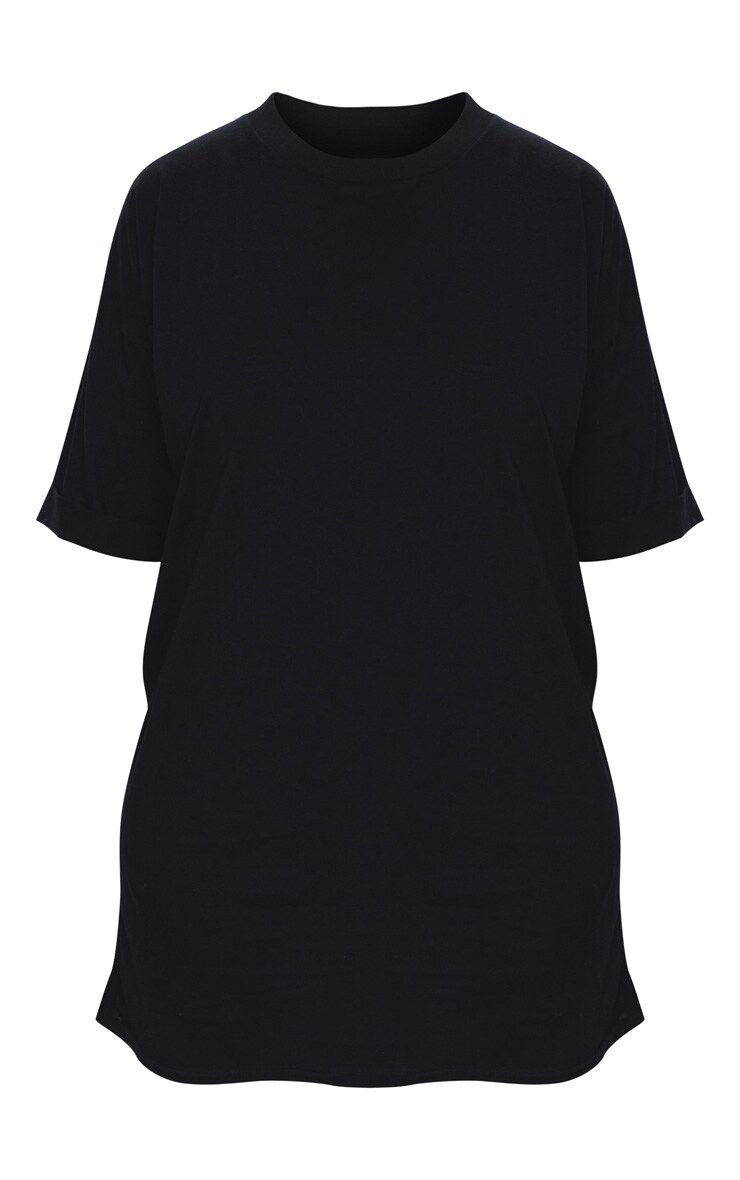 Plus Black Oversized Boyfriend T Shirt Dress 5