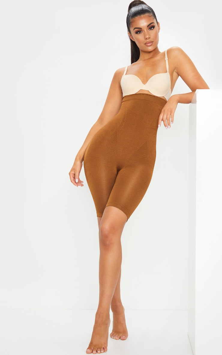 Brown Bum Lift Shapewear High Waisted Short 5