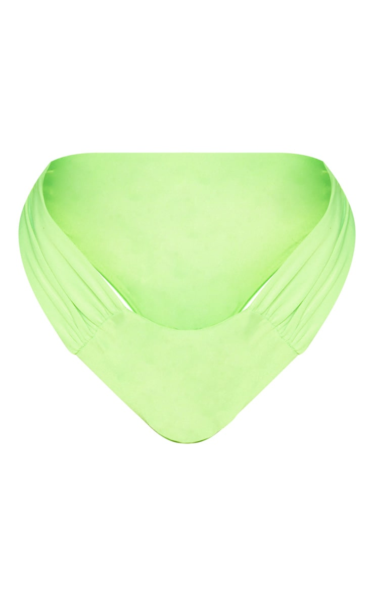 Shape Neon Lime Ruched Detail Bikini Bottom 3