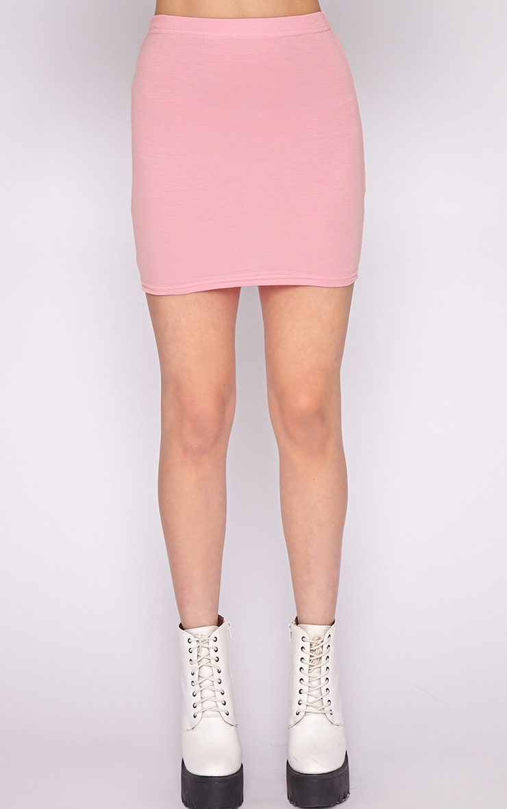 Basic Pink Jersey Mini Skirt 5