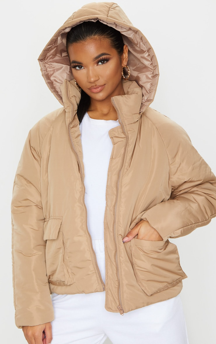 Mocha Basic Hooded Puffer 3
