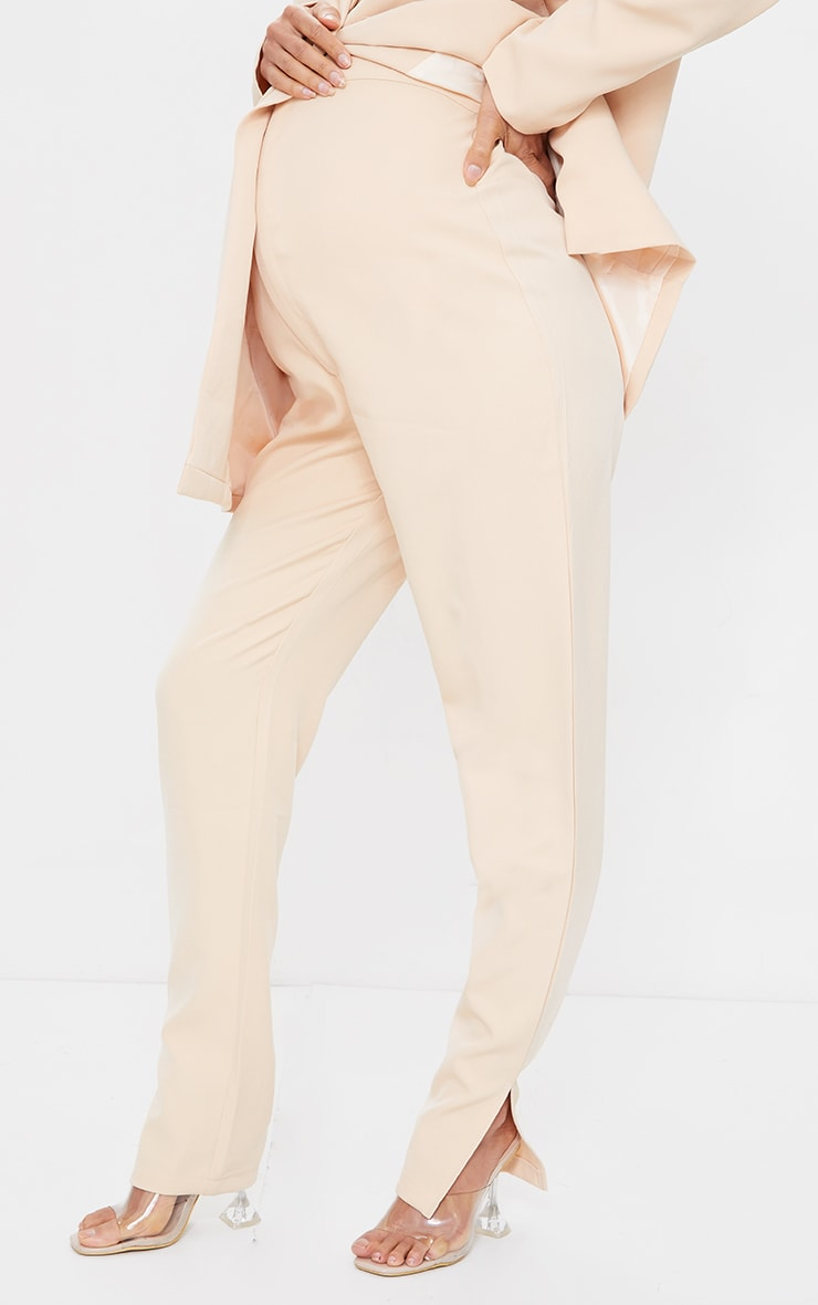 Maternity Camel Bump Support Suit Pants 2