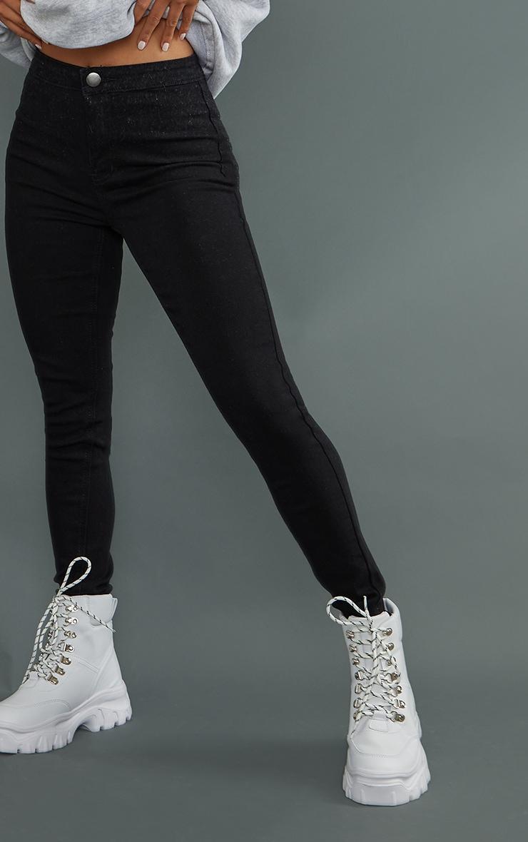 Petite - Jean skinny taille haute noir 4