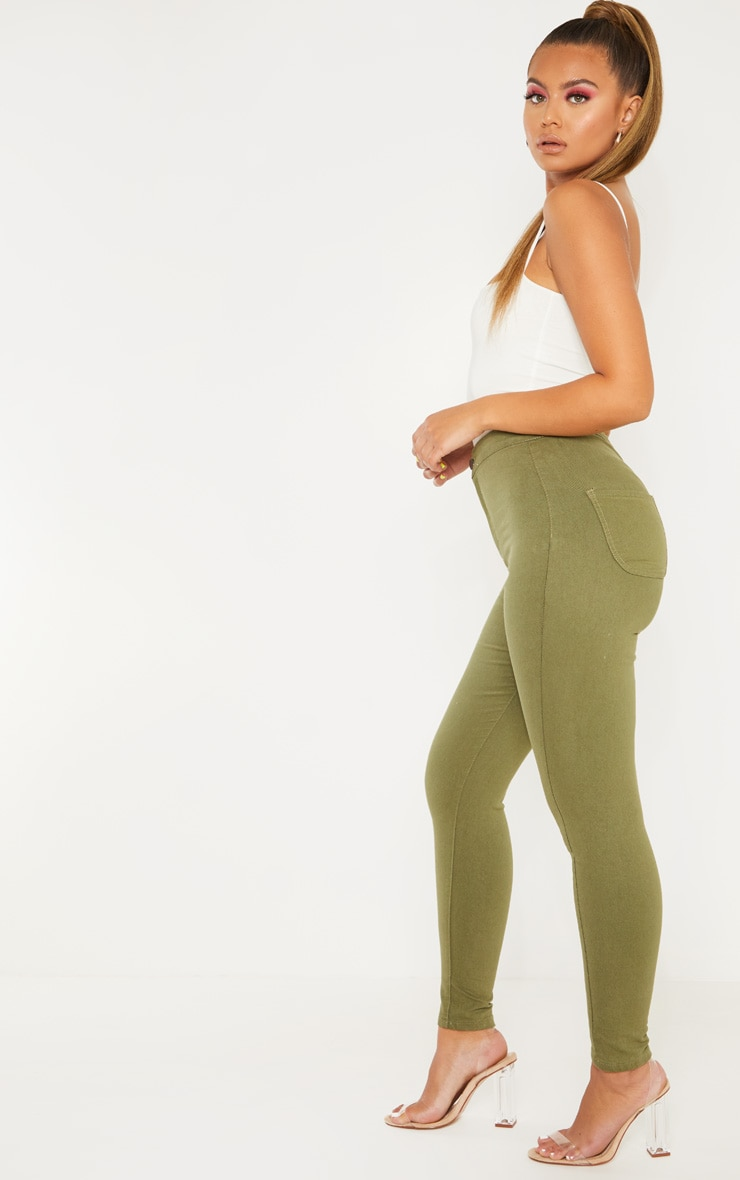 Khaki Denim Jegging 3