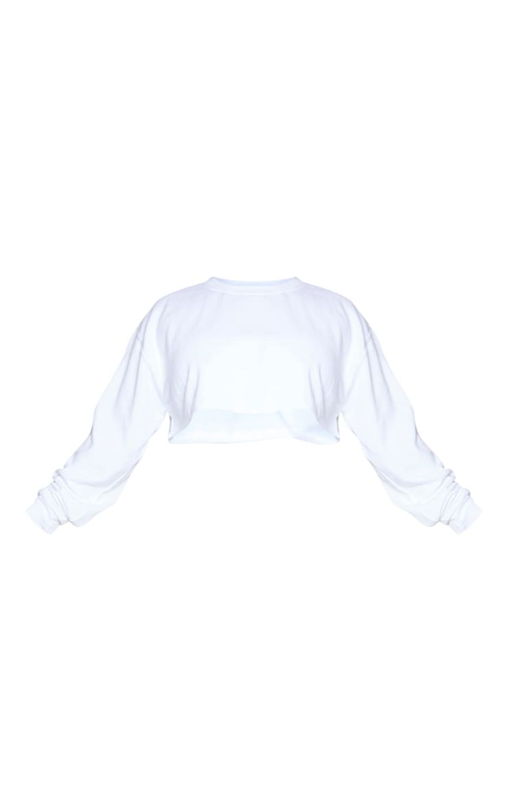 Plus White Ultimate Cropped Sweater 5