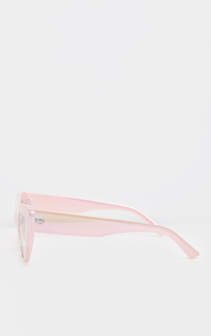 Pink Holographic Lens Cateye Sunglasses    4