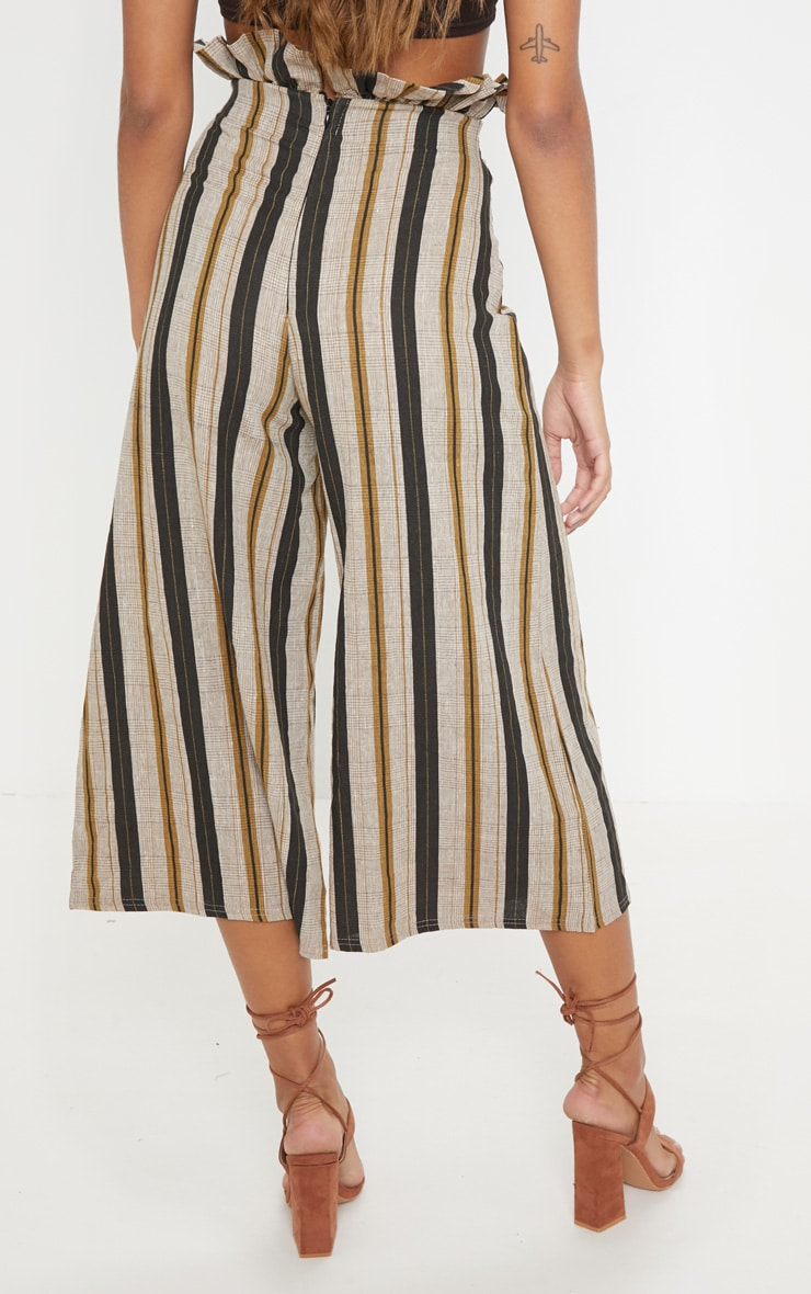 Black Printed Tie Waist Woven Culotte 4