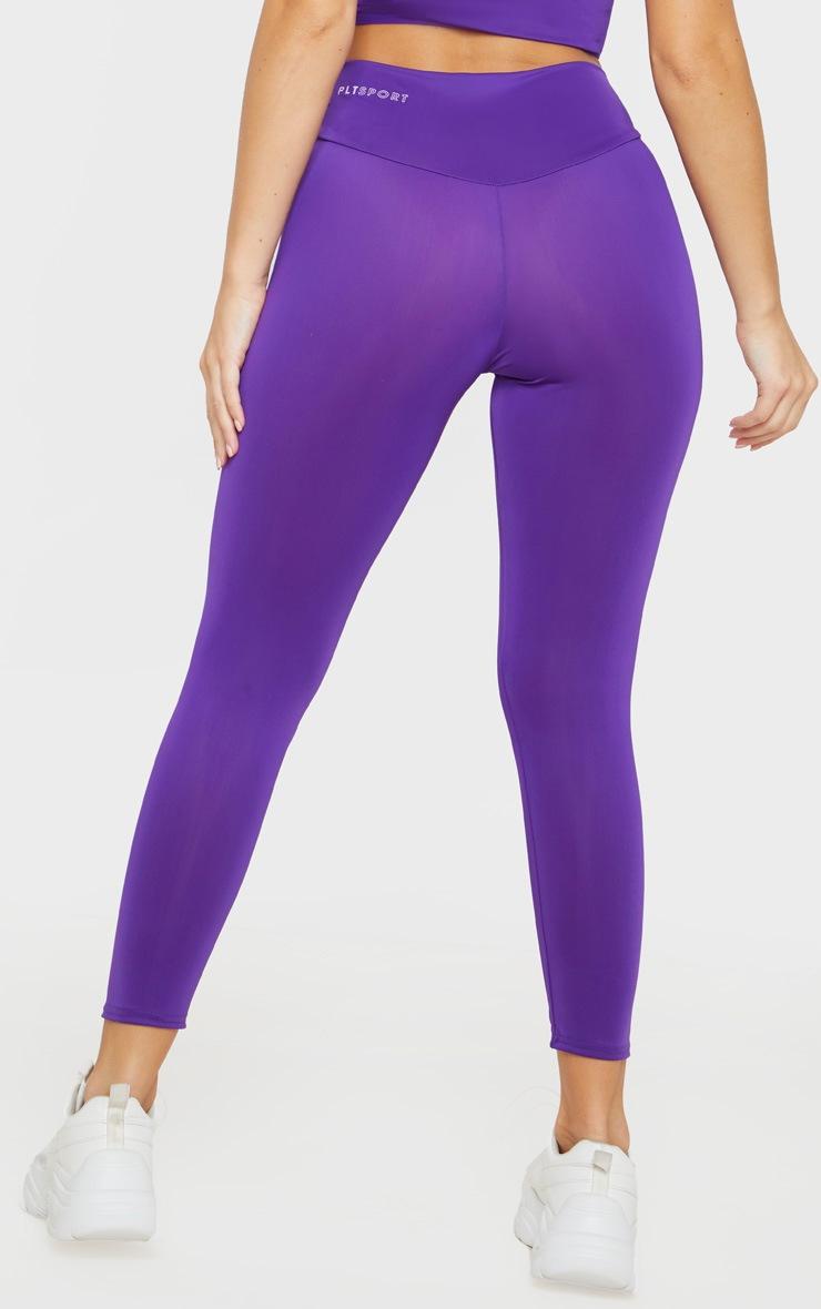PRETTYLITTLETHING Purple High Waisted Gym Legging 4