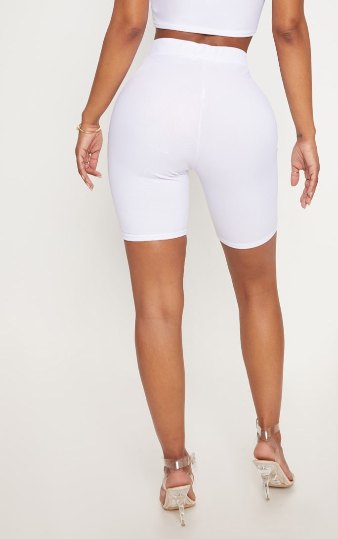Shape White Mesh Cycling Shorts 4