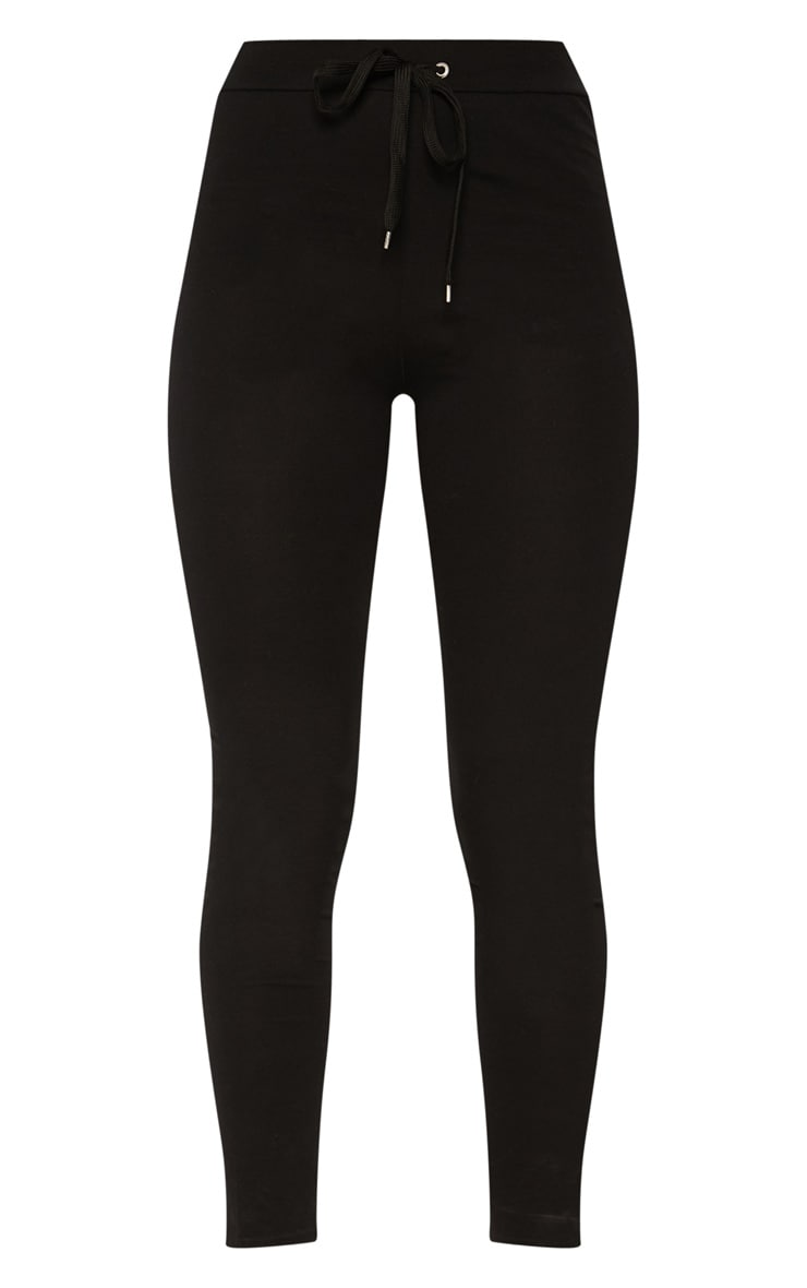 Black Drawstring Cotton Legging 3
