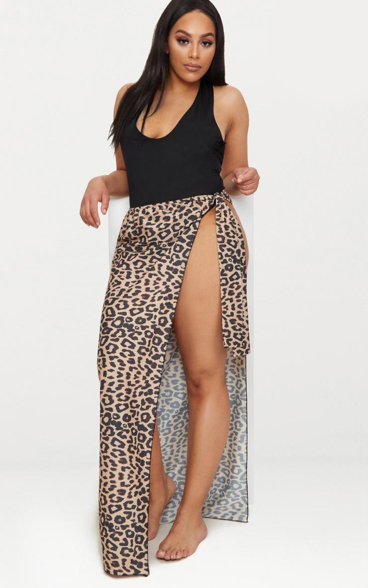 PLT Plus- Paréo léopard en mousseline de soie 1