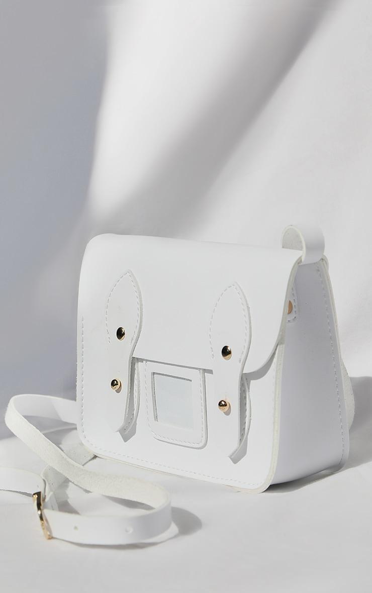 White Mini Satchel Cross Body Bag 1