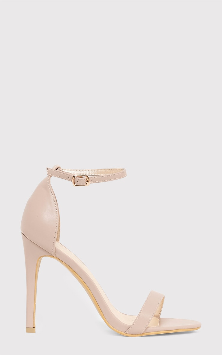 Clover Nude Strap Heeled Sandals 2