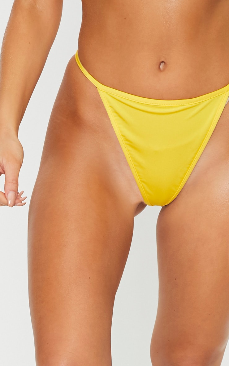 Yellow Mix & Match String Thong Bikini Bottom 5