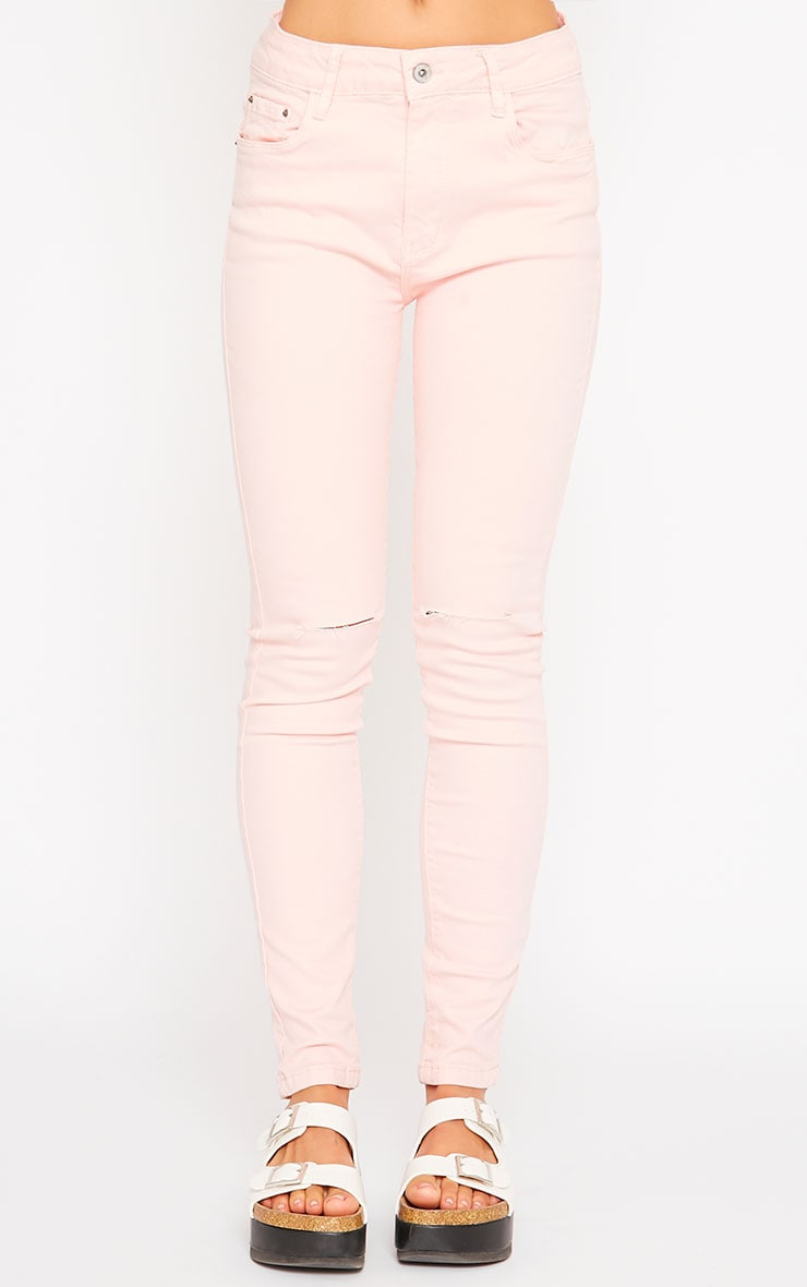 Talli Baby Pink Ripped Knee Jeans 2