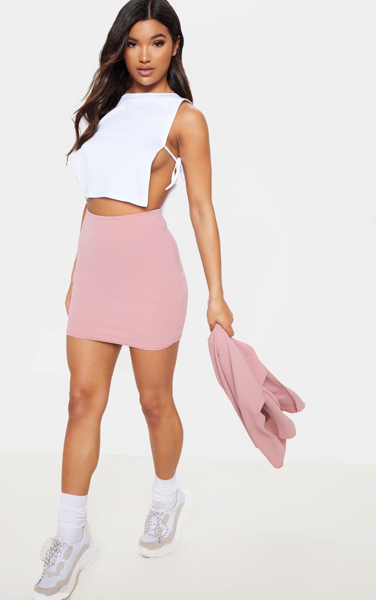 Pink Mini Suit Skirt