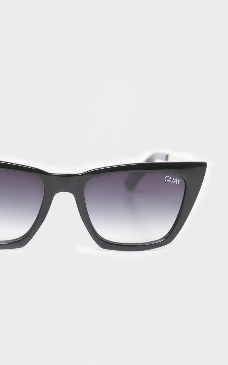 QUAY AUSTRALIA Black Dont At Me Square Sunglasses 4
