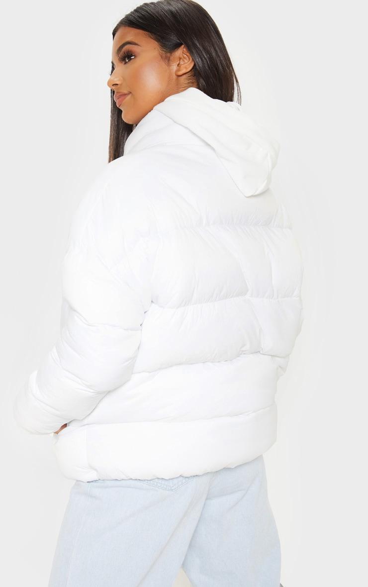 White Oversized Boyfriend Puffer 2