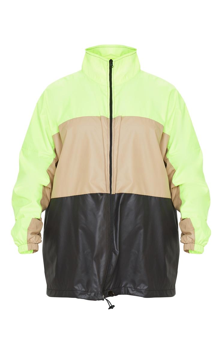 Stone Shell Colour Block Zip Up Windbreaker Jacket 3