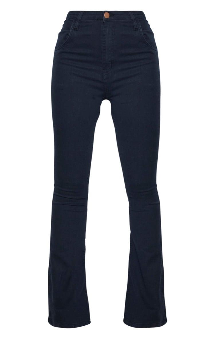 Tall Black Stretch Denim Flare Jeans 3