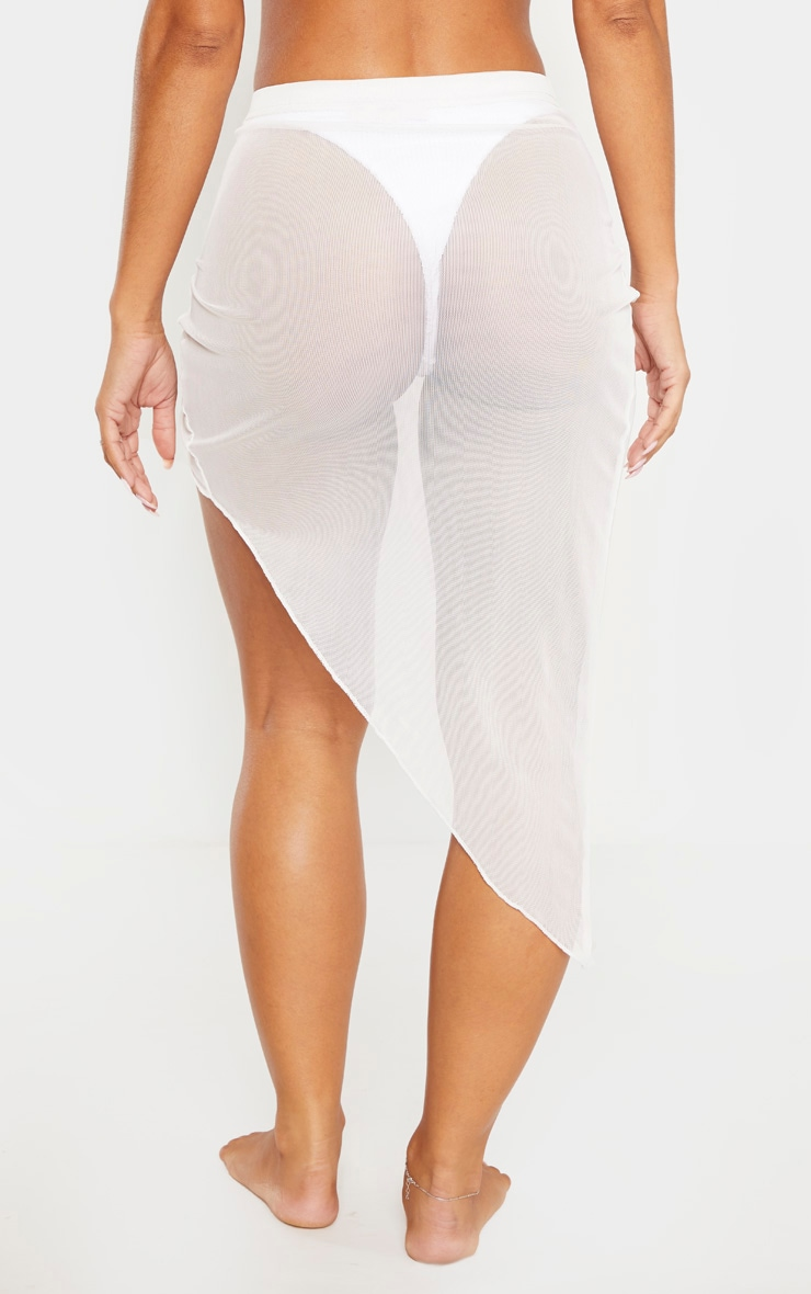 White Tie Knot Side Sarong 4