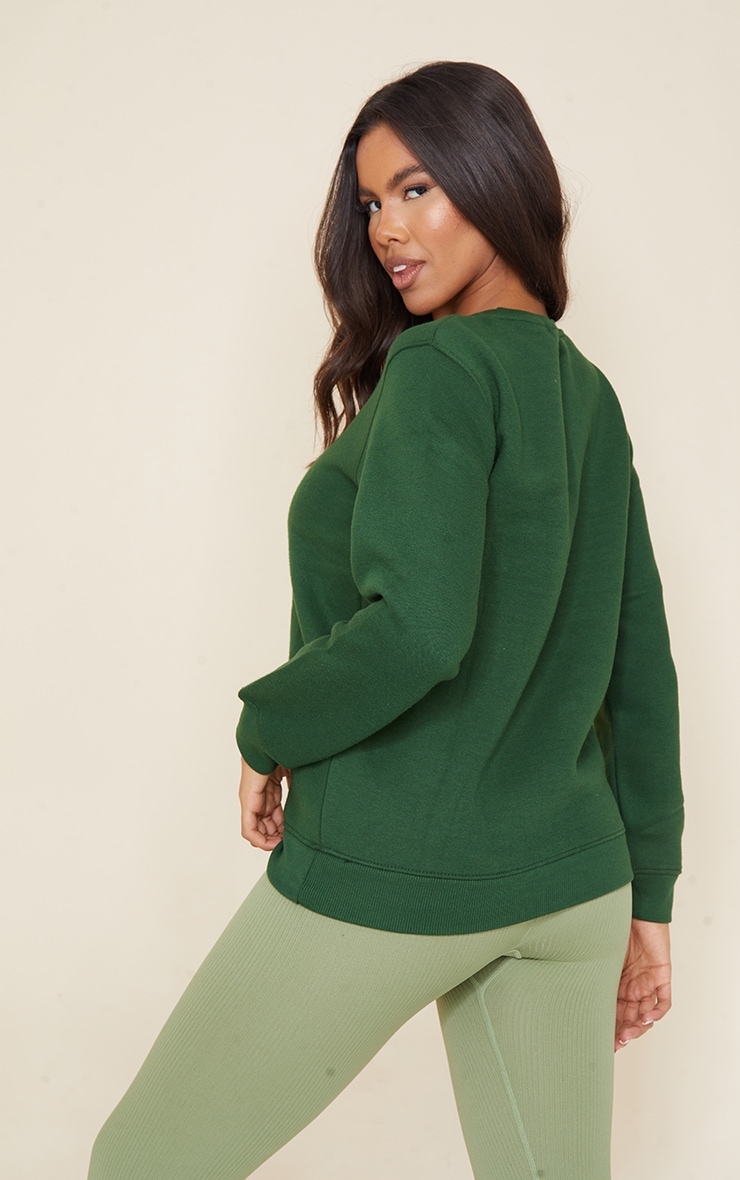 Recycled Dark Green Oversized Sweatshirt 2