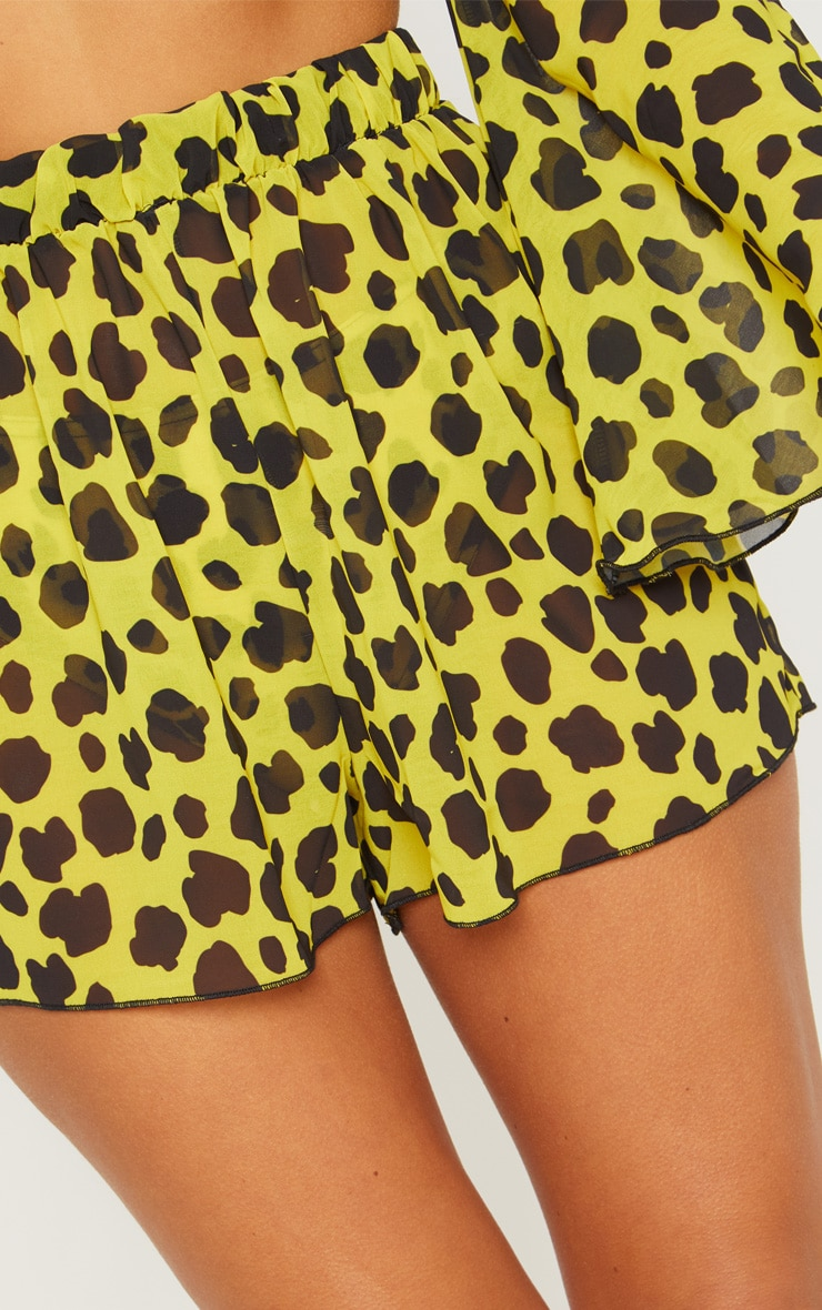 Yellow Cheetah Beach Shorts 6