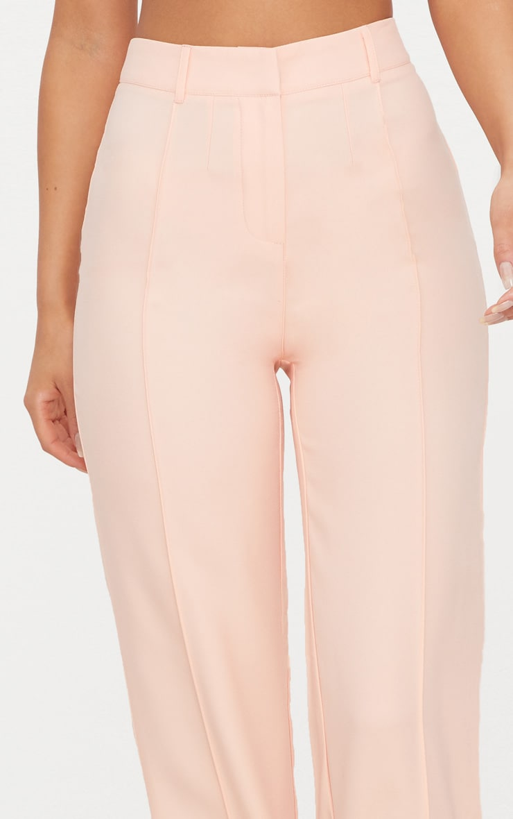 Blush High Waisted Straight Leg Trousers 5
