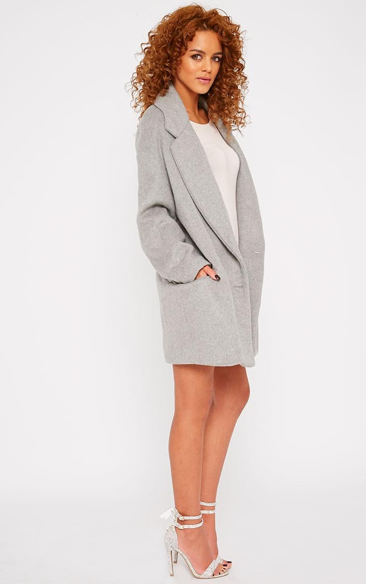Lizzie Grey Wool Boyfriend Coat 4