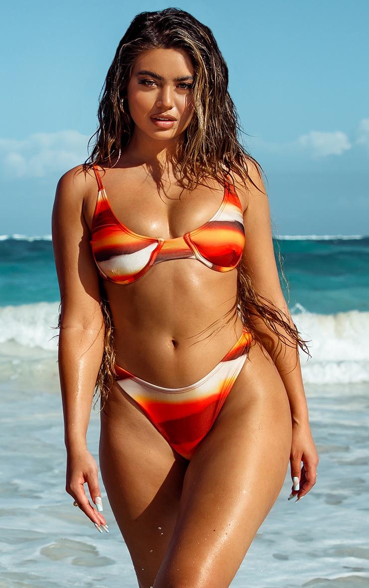 Orange Ombre Underwired Bikini Top 1