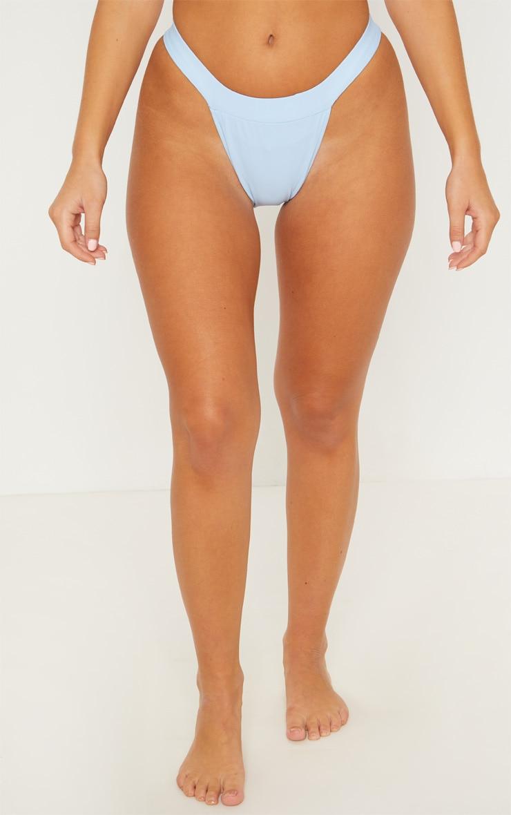 Dusty Blue High Leg Bikini Bottom 2