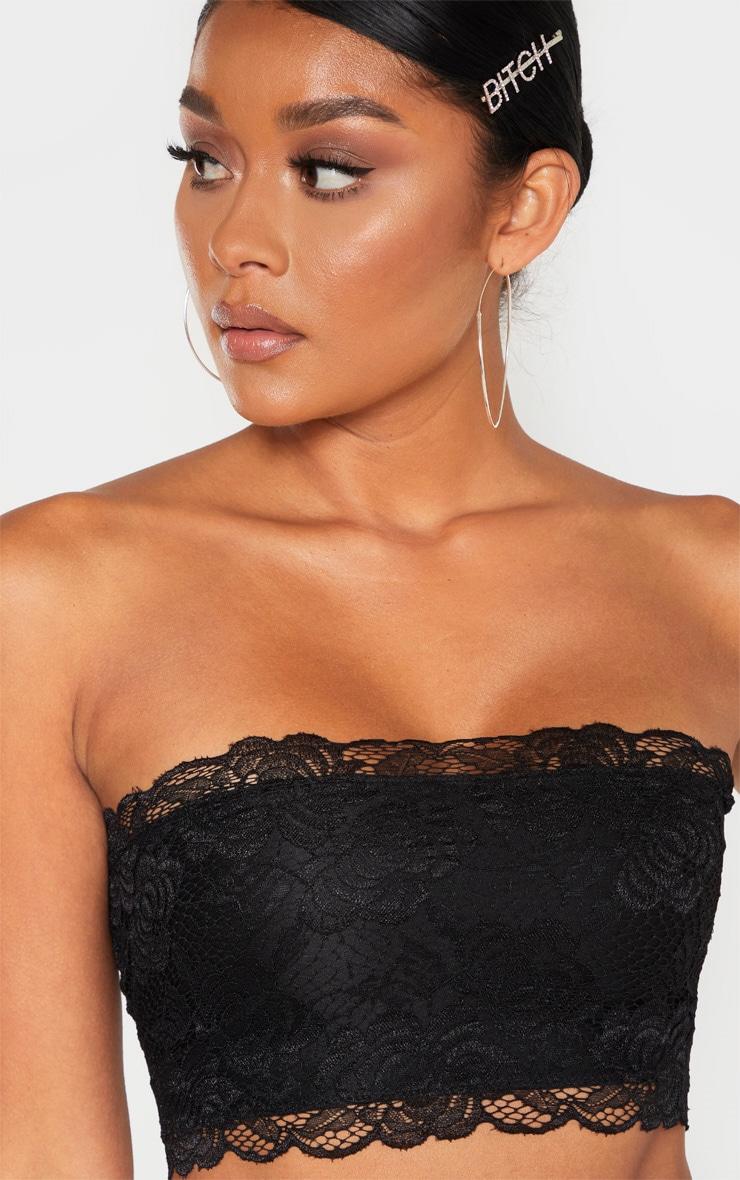 Black Lace Frill Bandeau 5