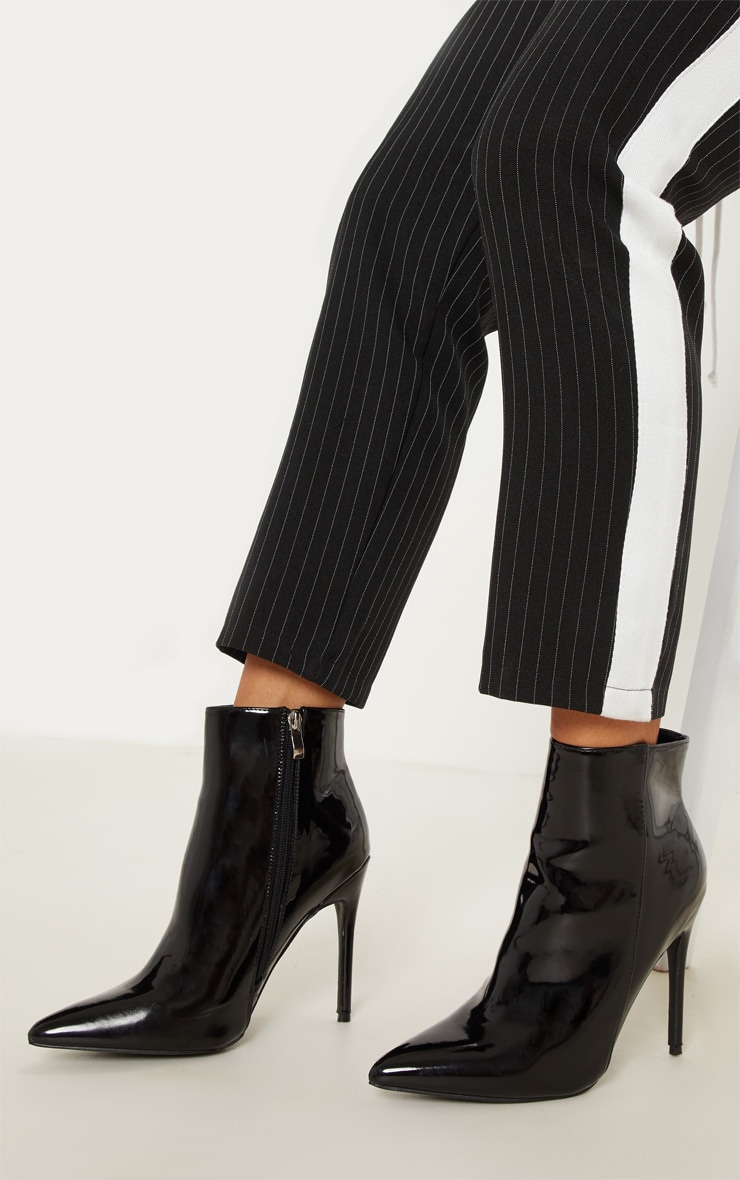 Bottines noires vernies pointues 2