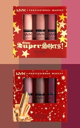 NYX Professional Makeup Gimme Super Stars! Butter Gloss Lip Trio Light Nude Gift Set 4