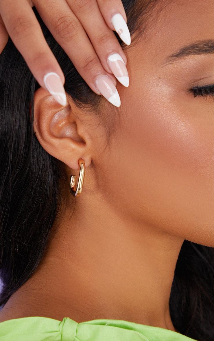 Gold Assorted Ribbed 6 Pack Hoop Earrings 2