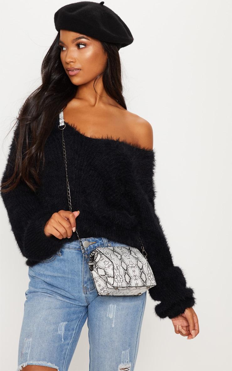 Black Eyelash Knitted Sweater 2
