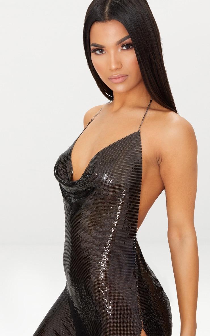 Black Chainmail Dress 5
