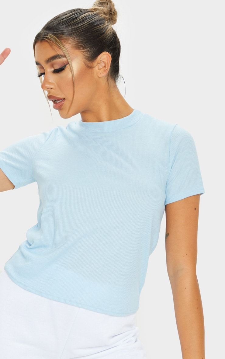 Baby Blue Soft Rib T Shirt 4