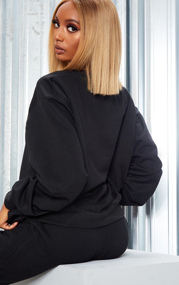 KARL KANI Black Embroidered Oversized Sweatshirt 3