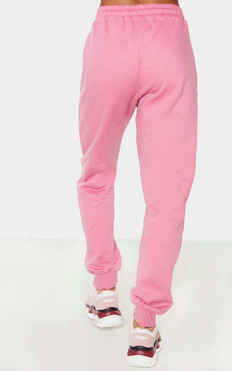 PRETTYLITTLETHING Pink Logo Joggers 4